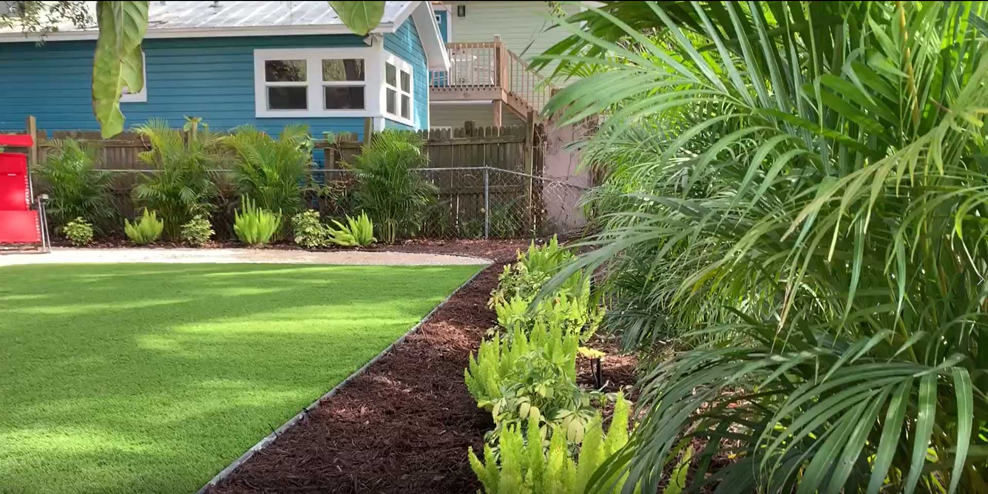 Tropical landscaping and lawn care services in Sarasota, Florida.