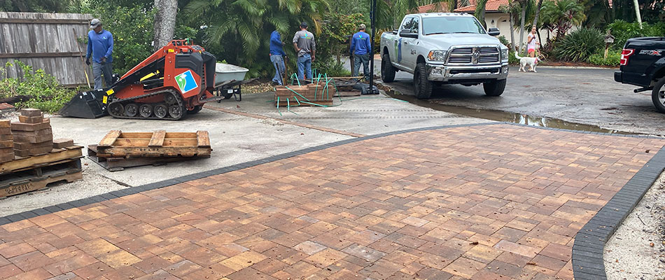 New paver installation at a home in Sarasota, FL.