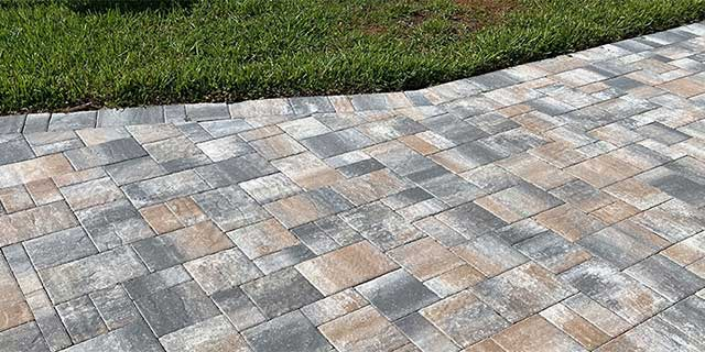 Custom paver patio replaced at a residence in Siesta Key, Florida.